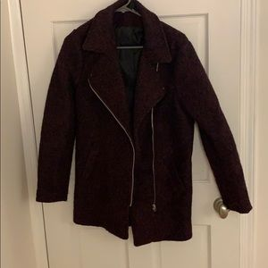 Never worn burgundy H & M pea coat
